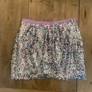 J.Crew Unicorn fete sequin mini skirt